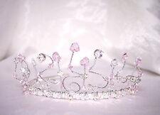 Pretty Cristal de Swarovski y diamante con muchas curvas Tiara Novia Prom Dama Boda