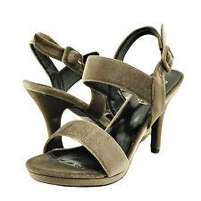 Women's Shoes Blossom A Robin 223 Open-Toe Strappy Buckle Velvet Heel Nude *New*