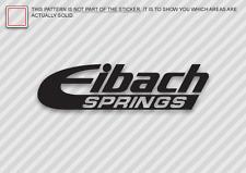 "(2x) 12"" EIBACH SPRINGS Sticker Die Cut Decal Self Adhesive Vinyl"