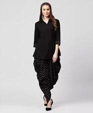 Gorgeous Black Salwar Kameez Patiala Suit Ethnic Dhoti Kurta New Beautiful Dress