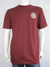 DC Skateboarding Mens Cotton Sealed Core T Shirt size Large XL Colour Maroon