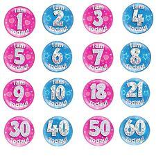 Jumbo Large Birthday Badge 1st 2nd 3rd 4th 5th 6th 7th 8th 9th 10th 11 Boy Girl