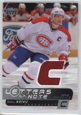 2002 Upper Deck Letters of Note #LN-SK Saku Koivu Montreal Canadiens Hockey Card