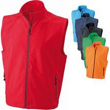 James & Nicholson Herren Weste Softshell Vest Jacke Sweatshirt Shirt S - 3XL