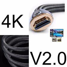 0.5M-10M Premium Cable HDMI Full HD 4K 3D v2.0 para PS3 PS4 Pro Xbox 360 One S X