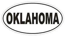 Oklahoma Oval Bumper Sticker or Helmet Sticker D2365 State Euro Oval