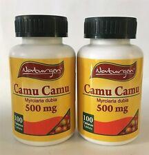 2 CAMU CAMU 500 MG 100% NATURAL (100 CAPSULES X BOTTLE)