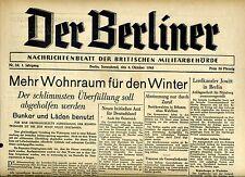 DER BERLINER vom 6. Oktober 1945: Mehr Wohnraum für den Winter #2