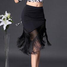 femme danse latine Jupe Tango Salsa Rumba salle de bal pompons entraînement