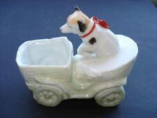 SCARCE C1905 DOG DRIVING EARLY MOTOR CAR CHINA FAIRING/ORNAMENT