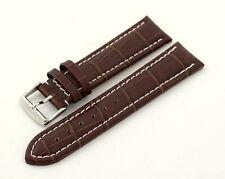 Condor Premium Uhrband Uhrenband 18-22mm Alligatorprägung Kalbleder 3 Farben 337