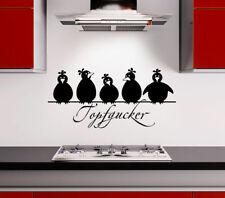 Wandtattoo Wandsticker Wandaufkleber Sprüche Küche Topfgucker Vögel Kochen W3086