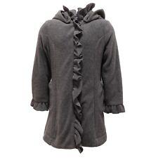 4683T giaccone bimba LULU' pile grigio cappotto jacket coat kid