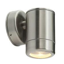 Moderno IP44 Acero Inoxidable al Aire Libre jardín LED GU10 Lámpara de pared de abajo Spot Luz