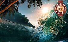 NEW BEACH SCENE ISLAND WAVE BREAKING OASIS PHOTO WALL ART PRINT PREMIUM POSTER