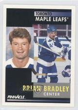 1991 Pinnacle #90 Brian Bradley Toronto Maple Leafs Quebec Nordiques Hockey Card