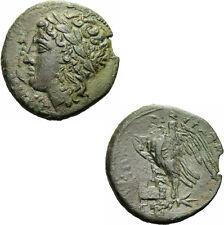 Syrakus Sizilien Hiketas Bronze Zeus Hellanios Adler Blitz Sicily Calciati 157