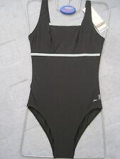 Speedo Traje De Baño Femenino Negro U posterior Escultura Control Traje De Baño medio pierna del Reino Unido Sze