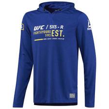 Reebok Official UFC Men Combat Ultimate Fan Deep Cobalt Pullover Hoodie NEW