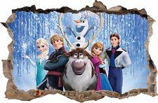 WANDAUFKLEBER Loch in der Wand 3D FROZEN Elsa Eiskönigin Wandtattoo 16