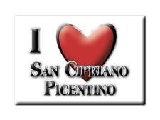 CALAMITA CAMPANIA FRIDGE MAGNETE SOUVENIR I LOVE SAN CIPRIANO PICENTINO (SA)