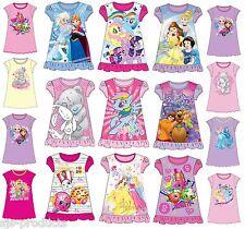 NEW Girls Kids Nightie Nighty Nightgown Pyjamas Nightdress Dress Frozen Ages 2-8