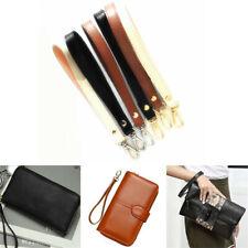 1x Leather Wristlet Wrist Bag Strap Replacement For Clutch Purse Handbag Bag