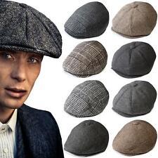 Peaky Blinders Mens Tommy Shelby Baker Boy Hat Herringbone Gatsby Newsboy Cap