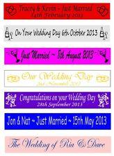 Personalizzato appena sposati matrimonio festa striscioni Banner 100mm x 1 METRI