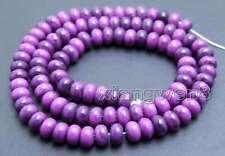 SALE 4*6mm Rondelle Natural purple sugilite Loose Beads strand 15'' -los687
