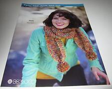 BERROCO BOBOLI and BOREALIS knitting yarn pattern book #324 sweaters hat capelet