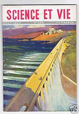SCIENCE ET VIE N°335 1945 BARRAGES EN AFRIQUE DU NORD