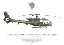 Print SA.341F Gazelle Canon, 6e RHCM, 2e EHAP, Compiègne (par G. Marie)