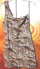 Sz S,M,L - NWT Love Culture One Shoulder Animal Cheetah Print Stretch Dress