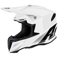 New 2019 Airoh Twist White Helmet Motocross Enduro S M L XL Road Legal