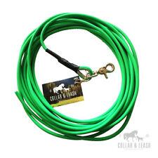 BIOTHANE Hundeleine Leine Fährtenleine Schleppleine 1-15m rund 6mm neon-grün