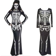 Sexy Women Party Cosplay Skeleton Halloween Costume Couple Fancy Dress