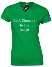Im un diamant brut femme T SHIRT FEMME Tumblr Bling Ring Tee Slogan TOP