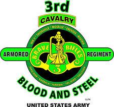 3RD ARMORED CAVALRY REGIMENT & OPERATION DESERT STORM VETERAN  2-SIDED SHIRT