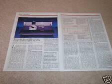 Bang & Olufsen Beogram CDX Review,1986,2 pgs,Full Test!