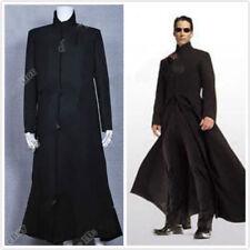 La matrice Cosplay Neo Costume Noir Trench Coat Pardessus