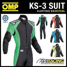 ! nuevo! KK01723L OMP KS-3 KS3 Adulto Kart Traje Fluorescente Colores CIK-FIA nivel 2