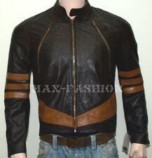 X-Men Wolverine Logans XO Replica cuir véritable veste Biker Style grise