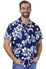 Funky Chemise Hawaïenne Hibiscus Bleu