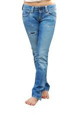 Pepe Jeans London W26 L32 Nuevo Cintura Baja Recto Mujer Pantalones Cintura Baja