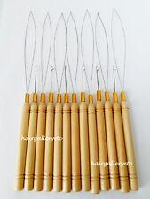 Micro Link Ring Beads Hair Extension Loop Threader Hook Pulling Needle Tool