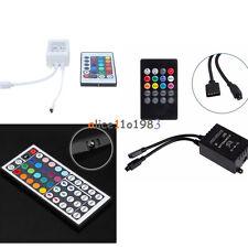 DC 12V RGB LED Light Strip IR Sensor Controller Sound Music Remote 20/24/44Key
