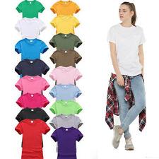 Womens Plain Short Sleeve Shirt Fashion Ladies Summer Casual Top Shirt Tee Vest