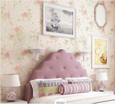 Pastoral style Embossed Environmental Non-woven Flocking Bedroom Wallpaper5.3㎡