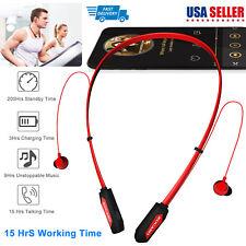Wireless Neckband Headphones Sweat-proof Magnetic Sport Headsets Earbuds Mic